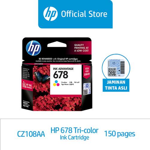 Foto Produk HP 678 Tri-color Ink Cartridge (CZ108AA) dari HP Official