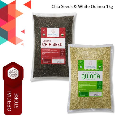 Foto Produk Chia Seed & White Quinoa Organic El Organico 1Kg (Mix Pack) dari ELorganico
