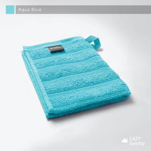 Foto Produk Handuk Kecil / Handuk Muka / Face Towel 30x40 cm - LAZY Sunday - - Aqua Blue dari LAZY Sunday Store