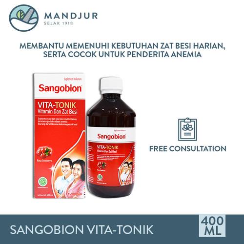 Foto Produk Sangobion VITA-TONIK 400 mL - Suplemen Penambah Darah / Anemia dari mandjur