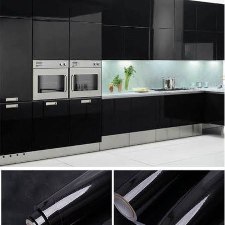 Foto Produk wallpaper sticker kitchen set hitam glossy 61 x 5mtr 783 dari galleria gorden lighting