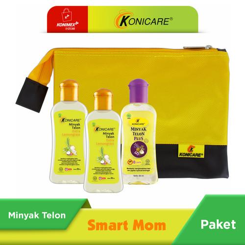 Foto Produk Konicare Minyak Telon Plus & Extra Lemongrass 60 ml Paket Smartmom dari Konimex Store