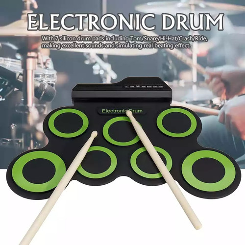 Foto Produk Portable Electronic Drum Digital USB 7 Pads Set Electric Drum Pad Kit dari rubic wear