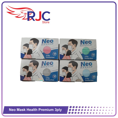 Foto Produk Masker Neo Premium Earloop 50's - Merah Muda dari Rajawali Jaya Citi Store