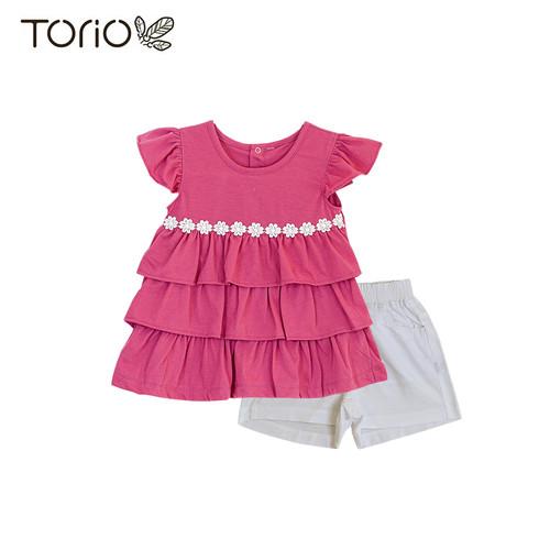 Foto Produk Baju Anak Perempuan Torio Basic Gorgeous Purple Dress Set - 3-4 tahun dari Torio