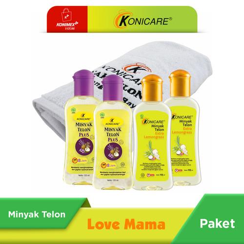 Foto Produk Konicare Minyak Telon Plus & Extra Lemongrass 125 ml Paket Lovemama dari Konimex Store