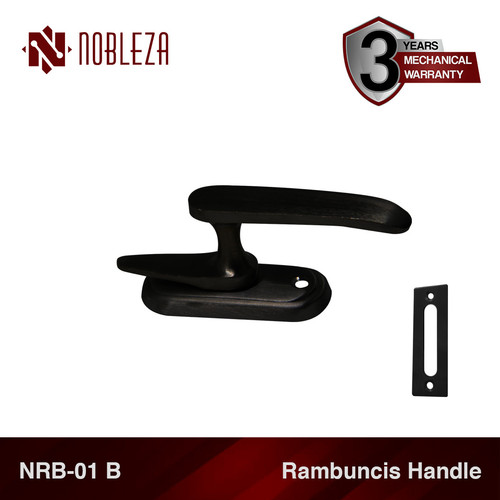 Foto Produk NOBLEZA NRB-01 B Hitam Rambuncis Kunci Jendela Grendel Kuningan dari Nobleza Hardware