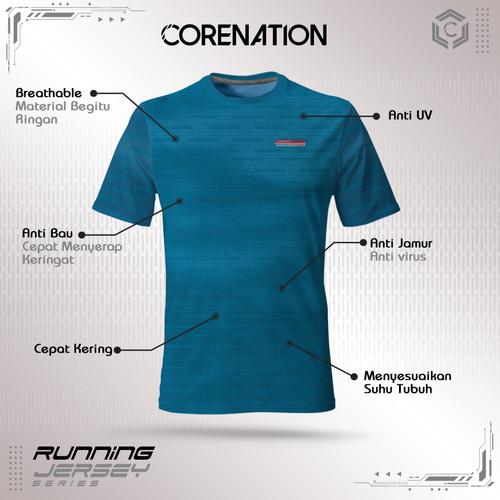 Foto Produk CoreNation Active Running Jersey - Biru, S dari CoreNation Active