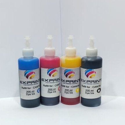 Foto Produk Tinta Refill Exprint 200ml for Epson/Canon/Hp/Brother Dye Ink - Hitam, Brother dari Exprint online