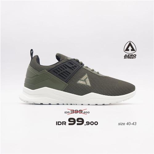 Foto Produk Aerostreet 40-43 Toyamaki Army - Sepatu Sneakers Sport Casual Pria - 42 dari Aerostreet