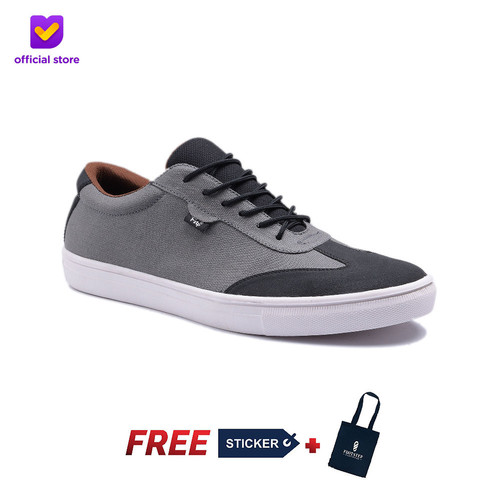 Foto Produk Sepatu Pria Sneakers Footstep Footwear - Atom Grey Black - 43 dari Footstep Footwear