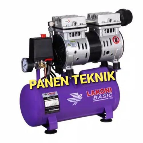 Foto Produk COMPRESOR LAKONI BASIC OILESS 9S 3/4HP SILENT dari Panen Teknik