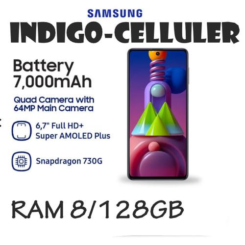 Foto Produk SAMSUNG GALAXY M51 RAM 8/128GB -GARANSI RESMI - Putih dari Indigo Celuler