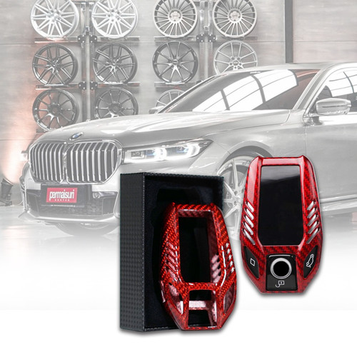 Foto Produk Permaisuri Key Case Carbon for BMW 7 Series G12/G30 - Black - Merah dari PERMAISURI