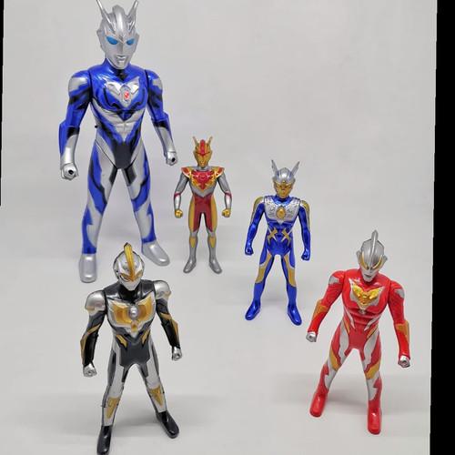 Foto Produk Mainan Robot Ultraman Rosso 5pcs dengan Lampu dan Suara Tinggi 33 cm dari EAZYTOYS