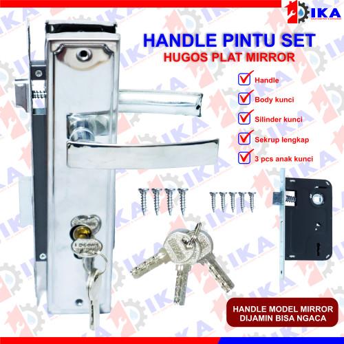 Foto Produk Handle PLAT BESAR 25CM + Body kunci + Silinder pintu / murah gagang dari Indokaryaabadi