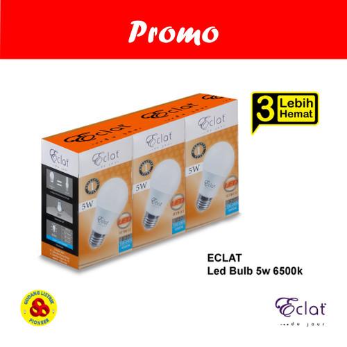 Foto Produk Eclat Lampu LED 5W Putih Paket PROMO Lebih Hemat isi 3 Bulb 5 Watt CDL dari Gudang Listrik