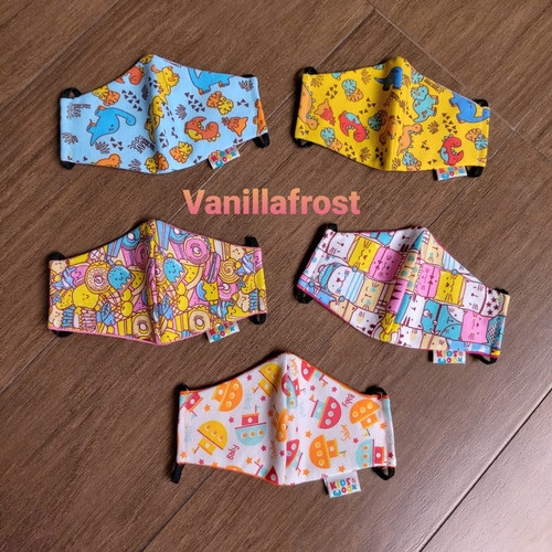 Foto Produk Masker Kain Anak Batita 3 Ply Katun Standar SNI (Size 1-3 Tahun) dari Vanillafrost