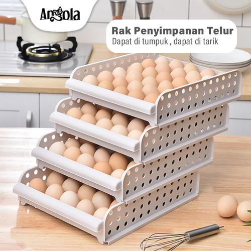 Foto Produk Egg Box C36 Rak Tempat Penyimpanan Telur Rak Telur Plastik Box Telur - 2 Tingkat dari Angola Official Store