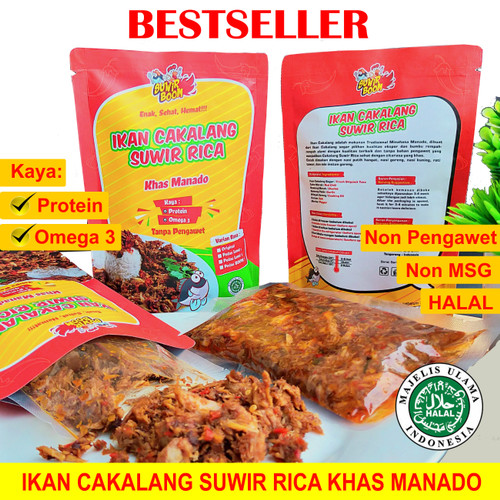 Foto Produk Ikan Cakalang Suwir Khas Manado. - 250g LEVEL 2 dari Cakalangboom