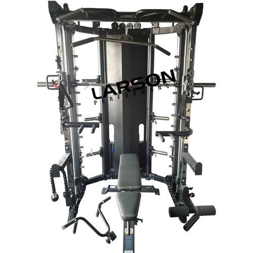 Foto Produk Larson Performance Smith Machine Multi Bench Press Adjustable Import dari BinaragaNet