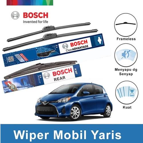 Foto Produk Bosch Wiper Mobil Toyota Yaris Frameless Clear Advantage 24 & 14 +H307 dari BOSCH by Klik Onderdil