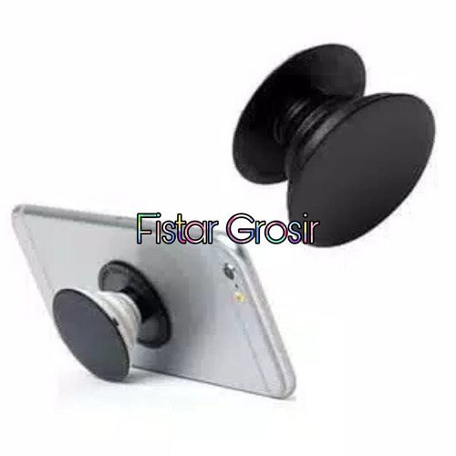 Foto Produk Popsocket Pop Socket Holder Hp Handphone Polos Hitam Putih - Putih dari Fistar Grosir