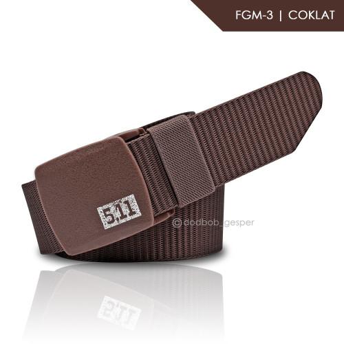 Foto Produk IKAT PINGGANG / TACTICAL MILITARY / ANTI METAL DETECTOR CODE :FGM - Cokelat dari dodbob_gesper