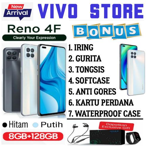Foto Produk OPPO RENO 4F RAM 8/128 GB GARANSI RESMI OPPO INDONESIA - hitam no bonus dari VIVO ST0RE