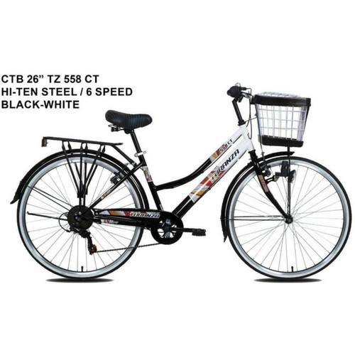 Foto Produk Sepeda Mini Keranjang City Bike 26 Inch Turanza 558 CT 6 Speed dari Sepeda Holic