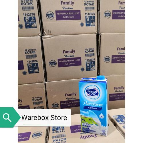 Foto Produk Susu UHT Full Cream Frisian Flag 12x900ML dari Warebox Store