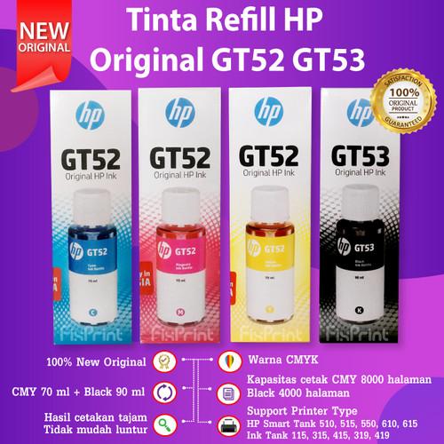 Foto Produk Tinta HP GT52 GT53 Original Printer GT5810 GT5820 115 315 415 319 419 - BIRU TANPA BOX dari FixPrint Indonesia