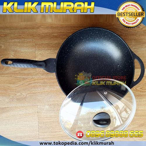 Foto Produk PANCI DESSINI GOLDEN ( 32 CM ) SUPER vacuum relief pan #CEPATMATANG - Wok die cast dari KLIK MURAH