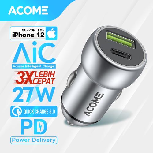 Foto Produk Car Charger ACOME Type-C/USB 3.0 AIC Fast Charging iPhone PD/QC 3.0 Ga dari Acome Indonesia