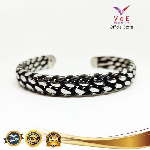 Foto Produk Gelang Titanium Perak Sisik - VeE Gelang Tangan Wanita Pria dari Vee Jewelry