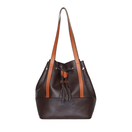 Foto Produk Ceviro Purety Bucket Bag Tas Bahu Serut Shoulder Bag Coffee dari Ceviro Bags Indonesia