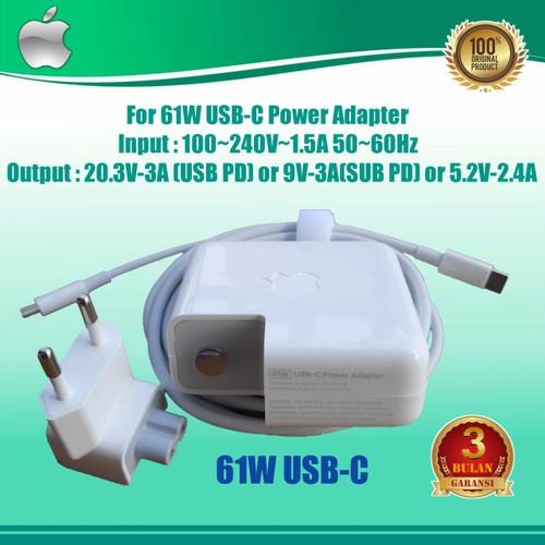 Foto Produk Charger Magsafe 61W Usb-C Original for Macbook Pro 13 A1706 A1708 dari Toko_Adaptor