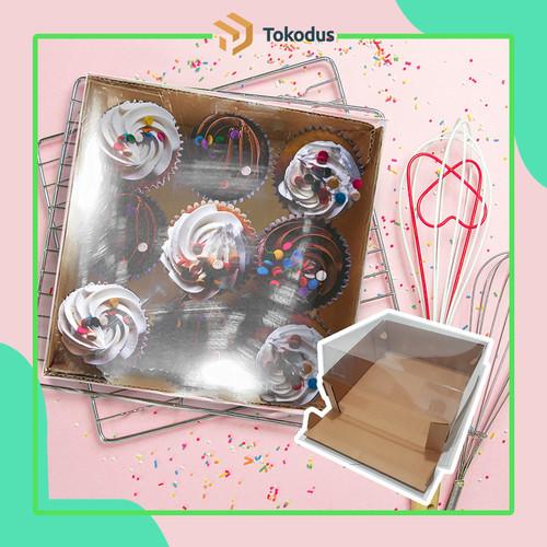 Foto Produk Kotak Dus Kue 20 x 20 x 7 cm - Plus Mika (Bisa Custom) dari tokodus