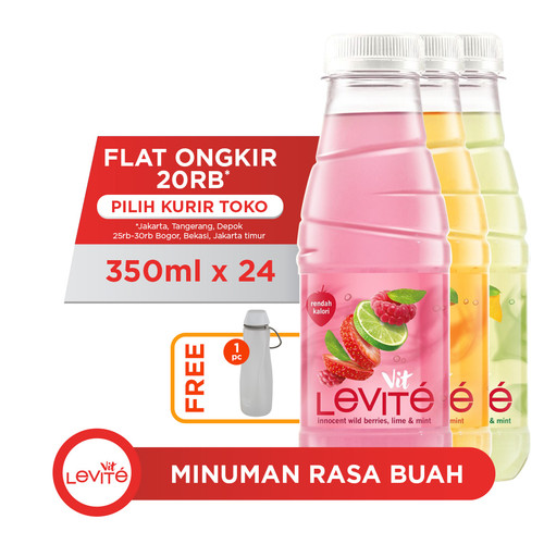 Foto Produk Levite Minuman Rasa Buah Mix (24x350ml) FREE Water Carrier dari AQUA Official Store