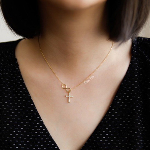 Foto Produk Dear Me - Amara Necklace 925 Sterling Silver with 18k Gold Plated dari Dear Me Jewelry