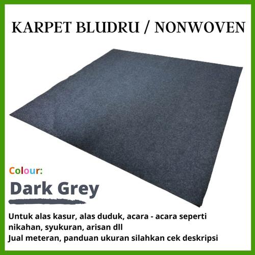 Foto Produk BAROKAH Karpet Wool Meteran 10 cm x 2 m, Bludru Bulu, Brudru Pameran - Dark Grey dari Martha Karpet Indonesia