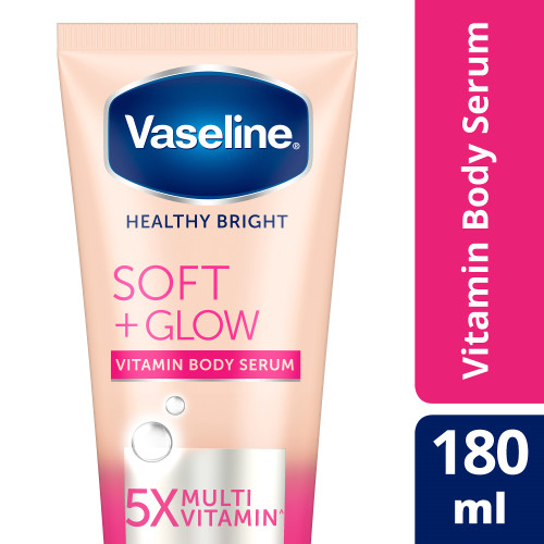 Foto Produk Vaseline Healthy Bright Vitamin Body Serum Soft Glow 180Ml dari Unilever Official Store
