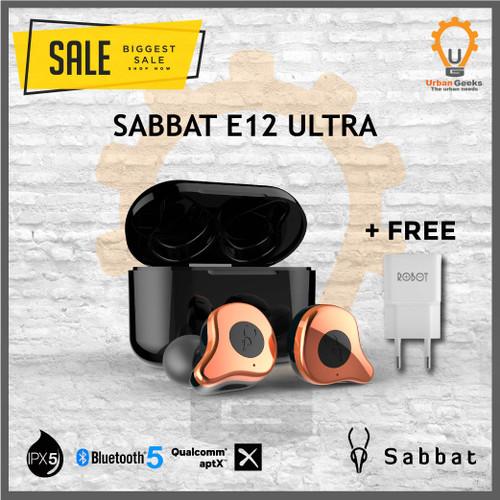 Foto Produk Sabbat E12 ULTRA Qualcomm APTX TWS Bluetooth Headset 5.0 New Upgrade - Gold Copper dari Urban Geeks