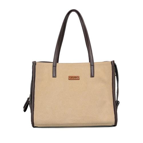 Foto Produk Ceviro Bomia Shoulder Bag Tas Bahu Tas Kantor Wanita Mocca dari Ceviro Bags Indonesia