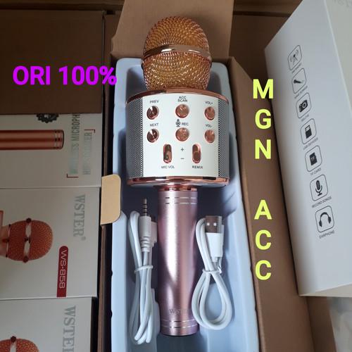 Foto Produk MIC KARAOKE ORIGINAL 100% WSTER WS-858 MICROPHONE BLUETOOTH,AUX,WS858 dari MGN19