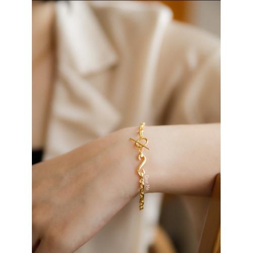 Foto Produk Dear Me - Casandra Bracelet 925 Sterling Silver with 18k Gold Plating dari Dear Me Jewelry