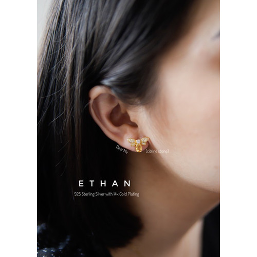 Foto Produk Dear Me - Ethan Earring Sterling Silver with 14k Gold Plating Anting dari Dear Me Jewelry