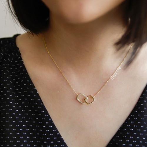 Foto Produk Dear Me - Haru Necklce 925 Sterling Silver with 14k Gold Plating dari Dear Me Jewelry