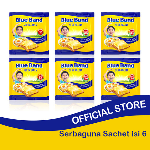 Foto Produk Blue Band Serbaguna Sachet 200gr isi 6 dari Blue Band Official Store