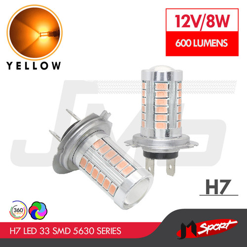 Foto Produk Lampu LED H7 Headlight / Foglight 5630 Samsung 33 SMD - Yellow dari Jaya Motorsport